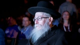 File photo: Deputy Health Minister Yaakov Litzman attends a conference in 2018.
